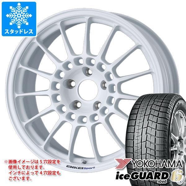 スタッドレスタイヤ ヨコハマ アイスガードシックス iG60 225/40R18 92Q XL & エンケイ スポーツ RC-T5 8.0-18 タイヤホイール4本セット 225/40-18 YOKOHAMA iceGUARD 6 iG60