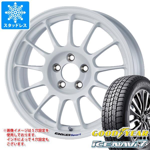 スタッドレスタイヤ グッドイヤー アイスナビ7 195/65R15 91Q & ENKEI エンケイスポーツ RC-T5 6.5-15 タイヤホイール4本セット 195/65-15 GOODYEAR ICE NAVI 7