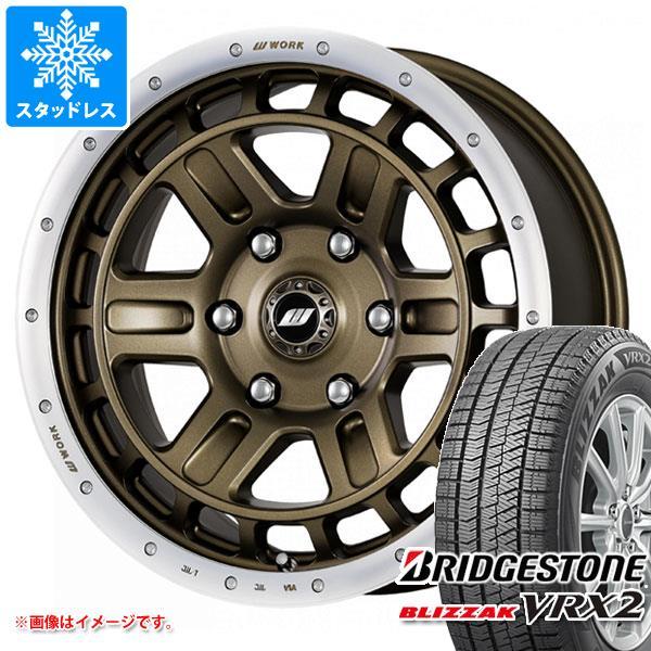 スタッドレスタイヤ ブリヂストン ブリザック VRX2 225/60R17 99Q & ワーク クラッグ T-グラビック 2 7.0-17 タイヤホイール4本セット 225/60-17 BRIDGESTONE BLIZZAK VRX2