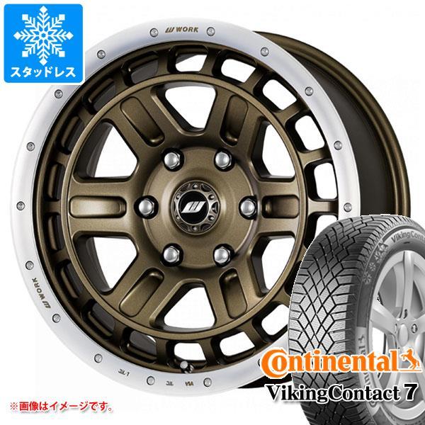 スタッドレスタイヤ コンチネンタル バイキングコンタクト7 215/70R16 100T & クラッグ T-グラビック 2 7.0-16 タイヤホイール4本セット 215/70-16 CONTINENTAL VikingContact 7