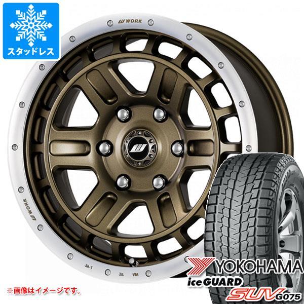 スタッドレスタイヤ ヨコハマ アイスガード SUV G075 215/70R16 100Q & クラッグ T-グラビック 2 7.0-16 タイヤホイール4本セット 215/70-16 YOKOHAMA iceGUARD SUV G075