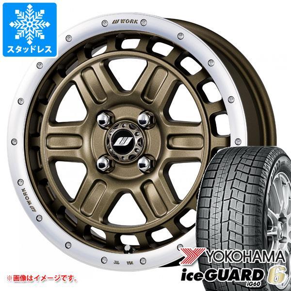 スタッドレスタイヤ ヨコハマ アイスガードシックス iG60 165/60R15 77Q & クラッグ T-グラビック 2 軽カー専用 5.0-15 タイヤホイール4本セット 165/60-15 YOKOHAMA iceGUARD 6 iG60