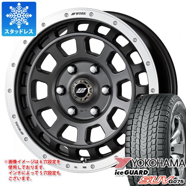 スタッドレスタイヤ ヨコハマ アイスガード SUV G075 265/70R17 115Q & ワーク クラッグ T-グラビック 8.0-17 タイヤホイール4本セット 265/70-17 YOKOHAMA iceGUARD SUV G075