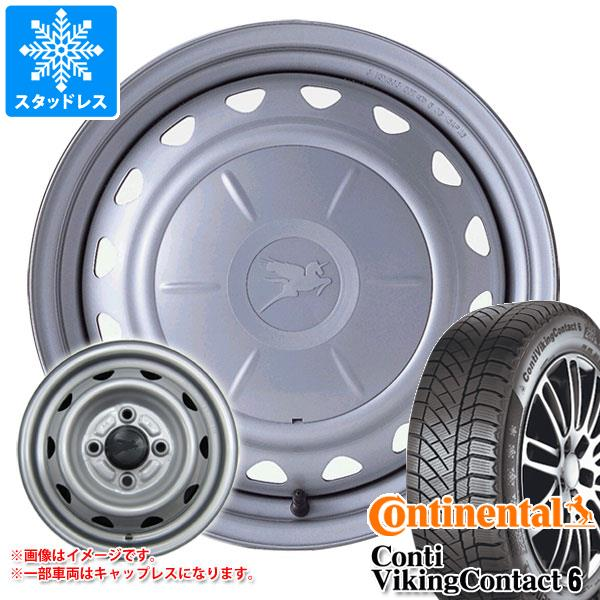 スタッドレスタイヤ コンチネンタル コンチバイキングコンタクト6 195/65R15 91T & キャロウィン 6.0-15 タイヤホイール4本セット 195/65-15 CONTINENTAL ContiVikingContact 6