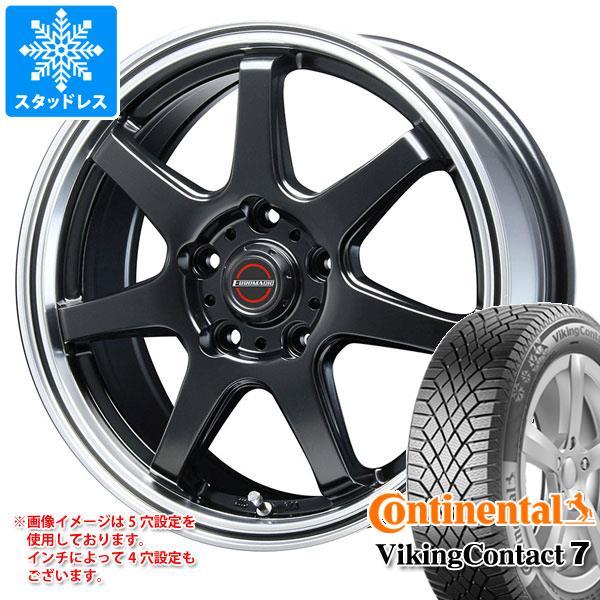 スタッドレスタイヤ コンチネンタル バイキングコンタクト7 195/60R16 93T XL & ブレスト ユーロマジック タイプ S-07 6.5-16 タイヤホイール4本セット 195/60-16 CONTINENTAL VikingContact 7