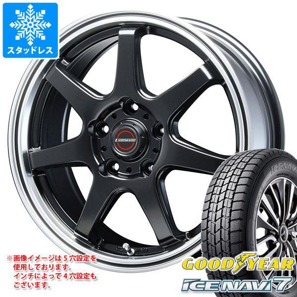 スタッドレスタイヤ グッドイヤー アイスナビ7 155/70R13 75Q & ブレスト ユーロマジック タイプ S-07 4.0-13 タイヤホイール4本セット 155/70-13 GOODYEAR ICE NAVI 7