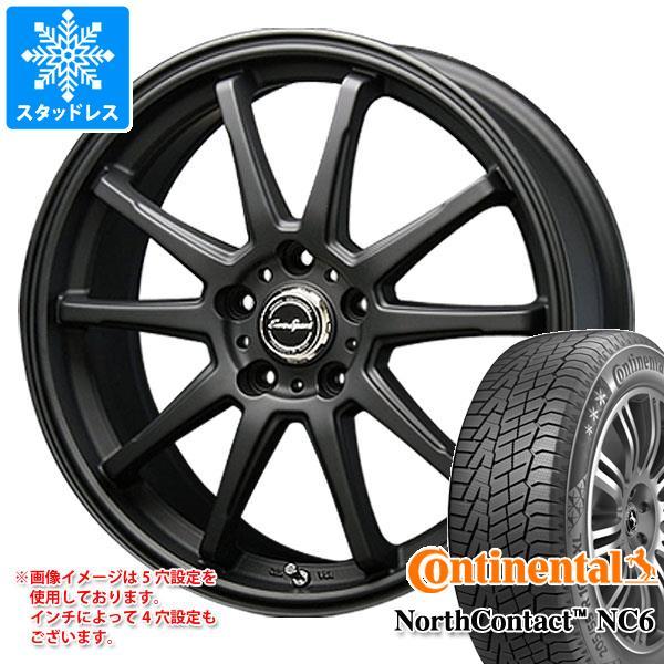 スタッドレスタイヤ コンチネンタル ノースコンタクト NC6 225/55R17 97T & ブレスト ユーロスポーツ タイプSS-01 7.0-17 タイヤホイール4本セット 225/55-17 CONTINENTAL NorthContact NC6