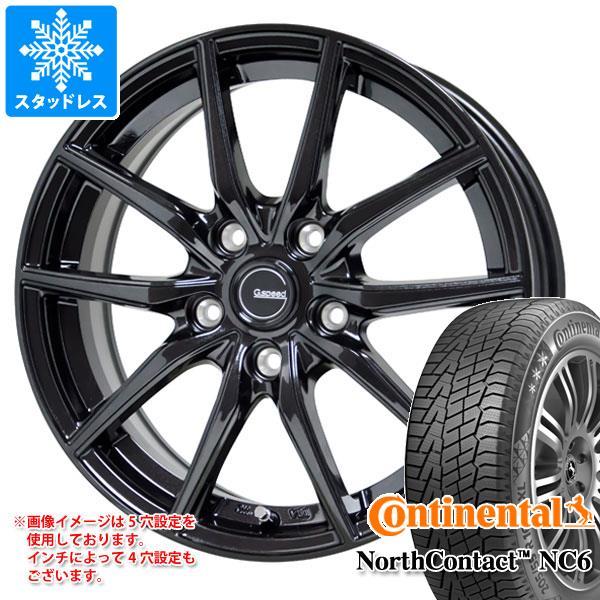 スタッドレスタイヤ コンチネンタル ノースコンタクト NC6 225/60R18 104T XL & ジースピード G02 7.5-18 タイヤホイール4本セット 225/60-18 CONTINENTAL NorthContact NC6