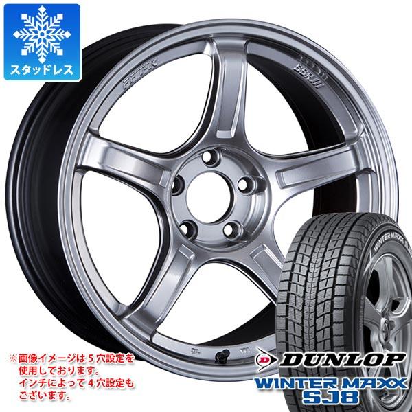 スタッドレスタイヤ ダンロップ ウインターマックス SJ8 235/65R18 106Q & SSR GTX03 8.5-18 タイヤホイール4本セット 235/65-18 DUNLOP WINTER MAXX SJ8