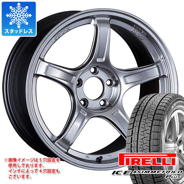 スタッドレスタイヤ ピレリ アイスアシンメトリコ プラス 215/45R17 91Q XL & SSR GTX03 7.0-17 タイヤホイール4本セット 215/45-17 PIRELLI ICE ASIMMETRICO PLUS