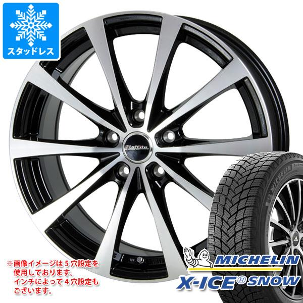 スタッドレスタイヤ ミシュラン エックスアイススノー 205/55R17 95T XL & ラフィット LE-03 7.0-17 タイヤホイール4本セット 205/55-17 MICHELIN X-ICE SNOW