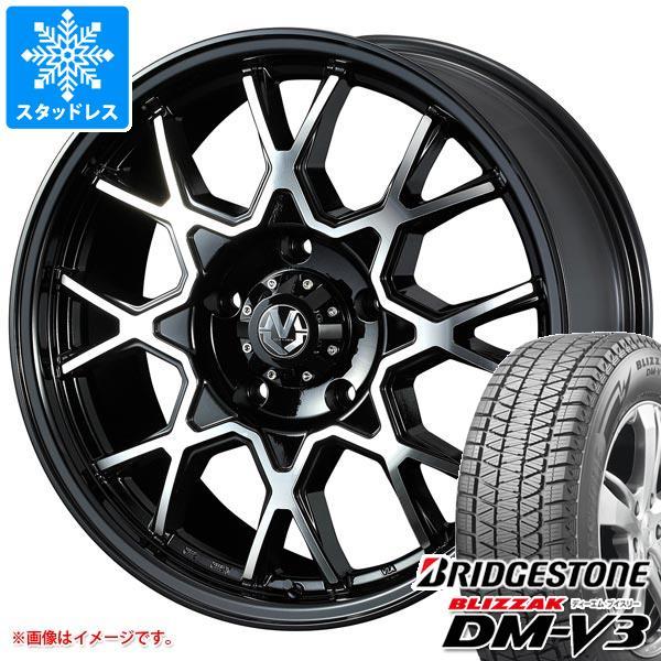 スタッドレスタイヤ ブリヂストン ブリザック DM-V3 265/60R18 110Q & マッドヴァンス02 8.0-18 タイヤホイール4本セット 265/60-18 BRIDGESTONE BLIZZAK DM-V3