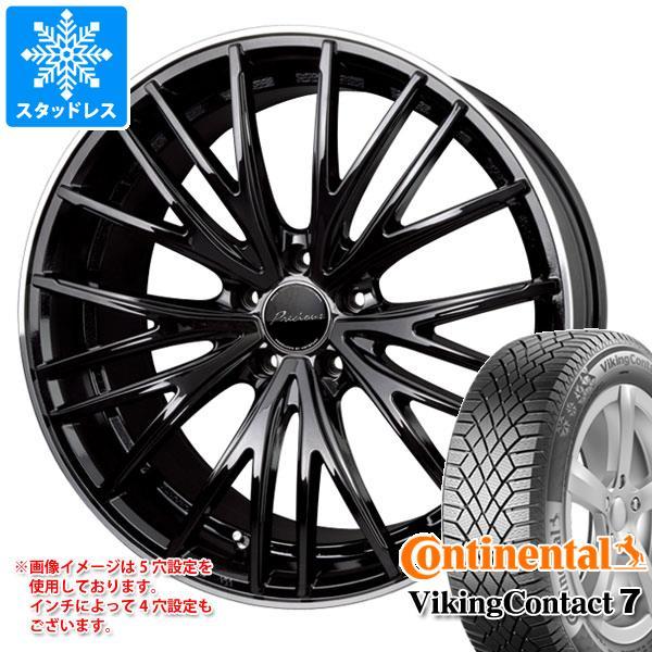 スタッドレスタイヤ コンチネンタル バイキングコンタクト7 215/55R18 99T XL & プレシャス アスト M1 7.0-18 タイヤホイール4本セット 215/55-18 CONTINENTAL VikingContact 7