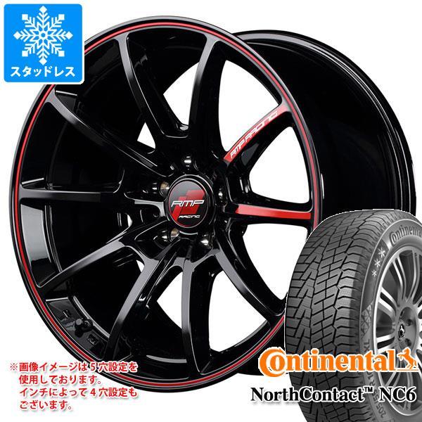 スタッドレスタイヤ コンチネンタル ノースコンタクト NC6 245/45R18 100T XL & RMP レーシング R25 8.0-18 タイヤホイール4本セット 245/45-18 CONTINENTAL NorthContact NC6