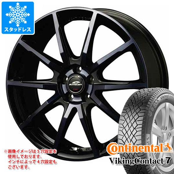 スタッドレスタイヤ コンチネンタル バイキングコンタクト7 205/65R15 99T XL & シュナイダー DR-01 BPBC 6.0-15 タイヤホイール4本セット 205/65-15 CONTINENTAL VikingContact 7