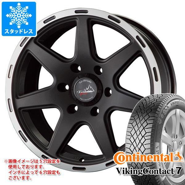 スタッドレスタイヤ コンチネンタル バイキングコンタクト7 215/60R16 99T XL Seal & ティラード クロス ブラック 7.0-16 タイヤホイール4本セット 215/60-16 CONTINENTAL VikingContact 7