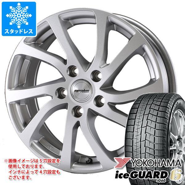 スタッドレスタイヤ ヨコハマ アイスガードシックス iG60 155/55R14 69Q & ティラード イプシロン 4.5-14 タイヤホイール4本セット 155/55-14 YOKOHAMA iceGUARD 6 iG60