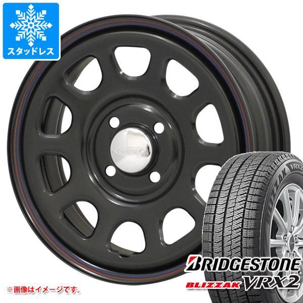 スタッドレスタイヤ ブリヂストン ブリザック VRX2 165/55R14 72Q & デイトナズ ブラック 軽カー専用 5.0-14 タイヤホイール4本セット 165/55-14 BRIDGESTONE BLIZZAK VRX2