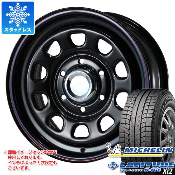 スタッドレスタイヤ ミシュラン ラティチュード エックスアイス XI2 235/70R16 106T & デイトナ SS ブラック 7.0-16 タイヤホイール4本セット 235/70-16 MICHELIN LATITUDE X-ICE XI2