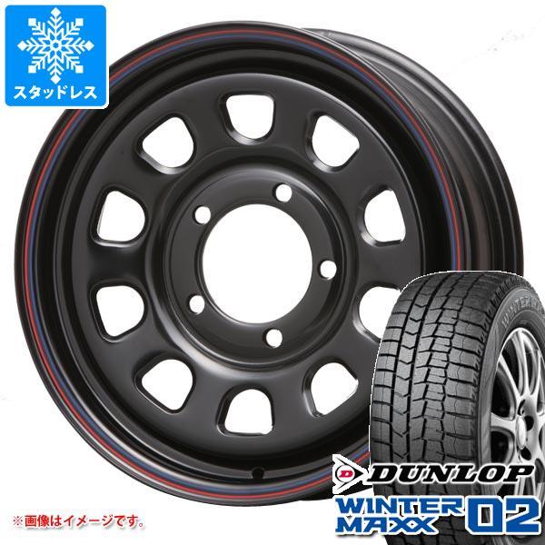 ジムニー専用 スタッドレス ダンロップ ウインターマックス02 WM02 215/70R16 100Q デイトナ SS ブラック タイヤホイール4本セット