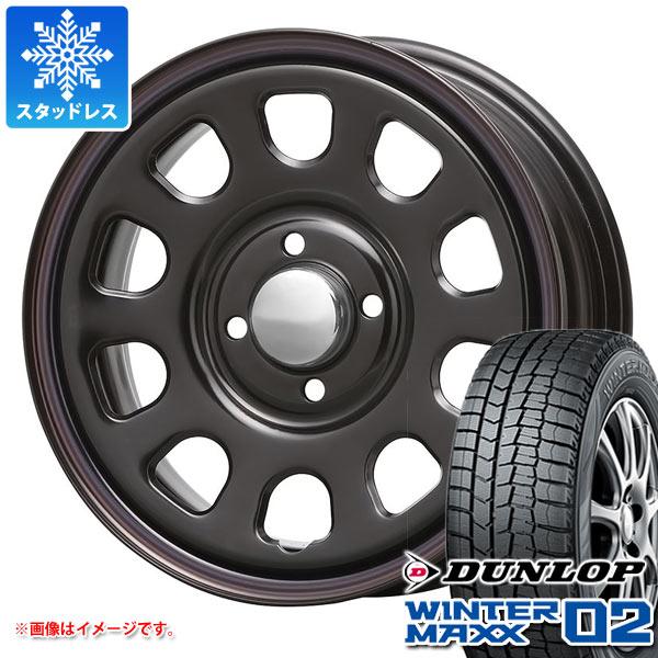 スタッドレスタイヤ ダンロップ ウインターマックス02 WM02 155/55R14 69Q & MLJ デイトナ SS 5.0-14 タイヤホイール4本セット 155/55-14 DUNLOP WINTER MAXX 02 WM02