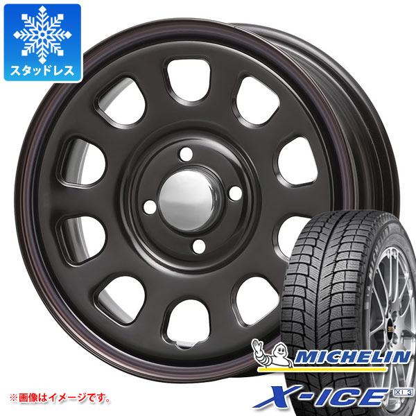 スタッドレスタイヤ ミシュラン エックスアイス XI3 155/65R14 75T & デイトナ SS ブラック 軽カー専用 5.0-14 タイヤホイール4本セット 155/65-14 MICHELIN X-ICE XI3