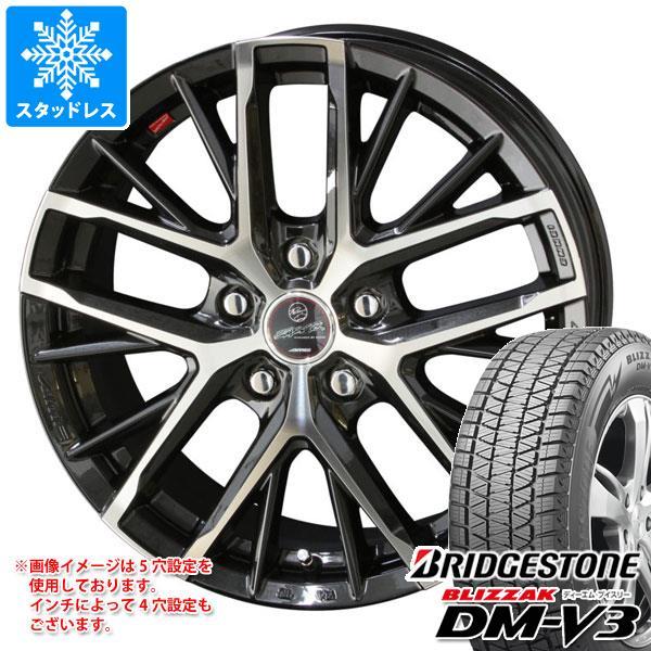 スタッドレスタイヤ ブリヂストン ブリザック DM-V3 235/65R18 106Q & スマック レヴィラ 8.0-18 タイヤホイール4本セット 235/65-18 BRIDGESTONE BLIZZAK DM-V3
