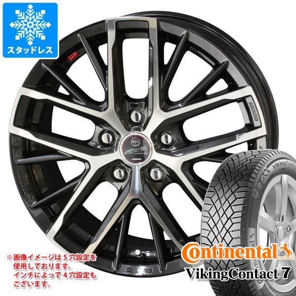 スタッドレスタイヤ コンチネンタル バイキングコンタクト7 225/55R16 99T XL & スマック レヴィラ 6.5-16 タイヤホイール4本セット 225/55-16 CONTINENTAL VikingContact 7