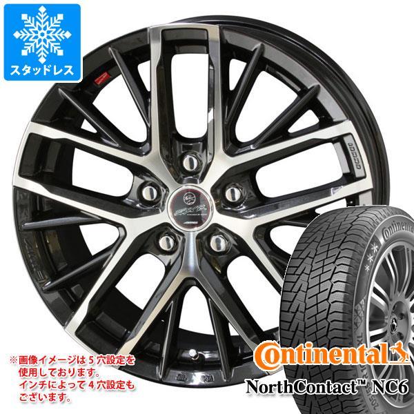 スタッドレスタイヤ コンチネンタル ノースコンタクト NC6 225/45R18 95T XL & スマック レヴィラ 8.0-18 タイヤホイール4本セット 225/45-18 CONTINENTAL NorthContact NC6