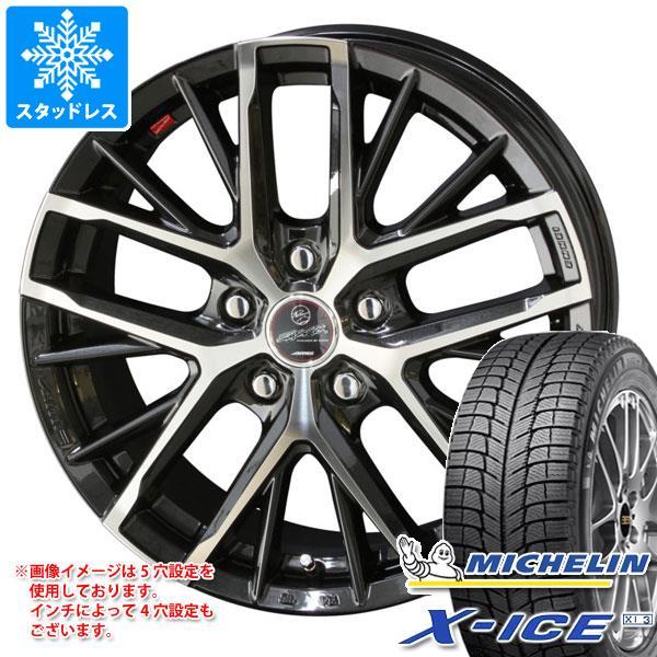 スタッドレスタイヤ ミシュラン エックスアイス XI3 185/65R14 90T XL & スマック レヴィラ 5.5-14 タイヤホイール4本セット 185/65-14 MICHELIN X-ICE XI3