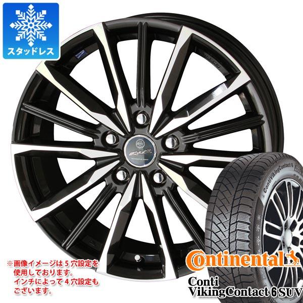 スタッドレスタイヤ コンチネンタル コンチバイキングコンタクト6 SUV 215/65R16 102T XL & スマック ヴァルキリー 6.5-16 タイヤホイール4本セット 215/65-16 CONTINENTAL ContiVikingContact 6 SUV