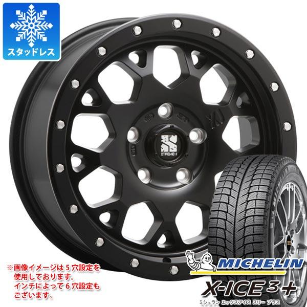 スタッドレスタイヤ ミシュラン エックスアイス3プラス 215/60R16 99H XL & エクストリームJ XJ04 SB 7.0-16 タイヤホイール4本セット 215/60-16 MICHELIN X-ICE3+