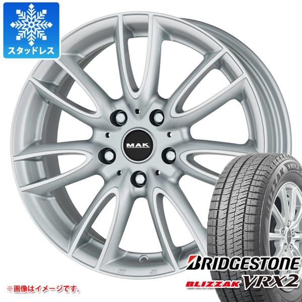 MINI ミニ F55/F56用 スタッドレス ブリヂストン ブリザック VRX2 195/55R16 87Q MAK ジャッキー シルバー タイヤホイール4本セット