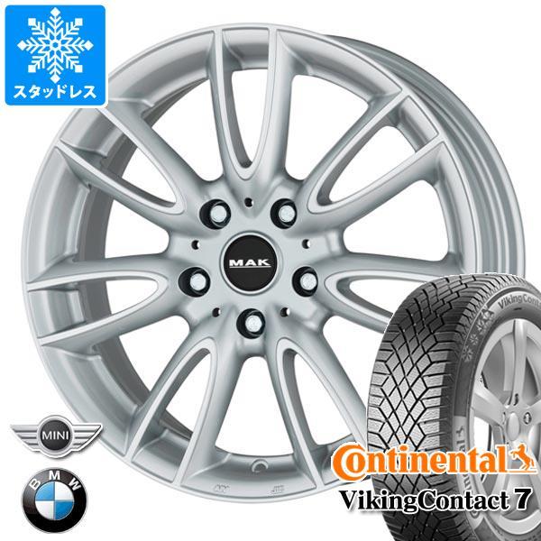 MINI クロスオーバー R60用 スタッドレス コンチネンタル バイキングコンタクト7 205/60R16 96T XL MAK ジャッキー シルバー タイヤホイール4本セット