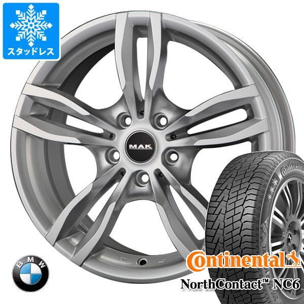BMW F40 1シリーズ用 スタッドレス コンチネンタル ノースコンタクト NC6 205/55R16 94T XL MAK ルフト シルバー タイヤホイール4本セット