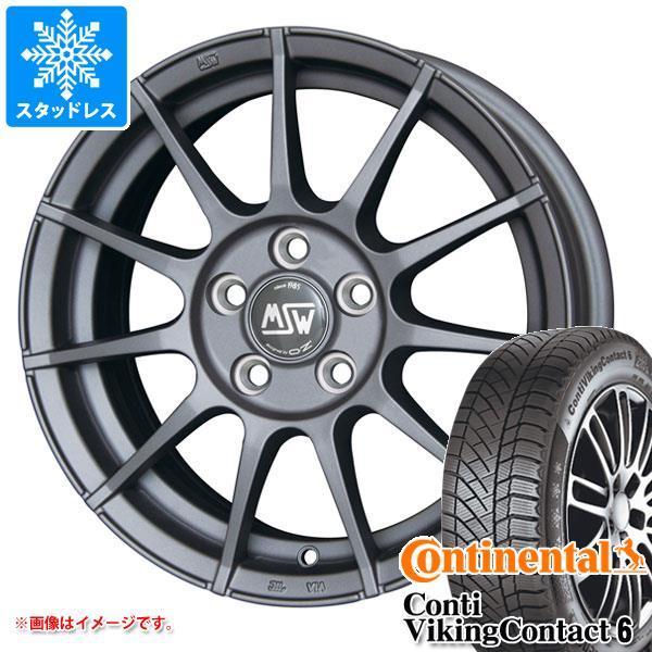 MINI ミニ R56用 スタッドレス コンチネンタル コンチバイキングコンタクト6 195/55R16 91T XL OZ MSW 85 マットチタニウムテック タイヤホイール4本セット