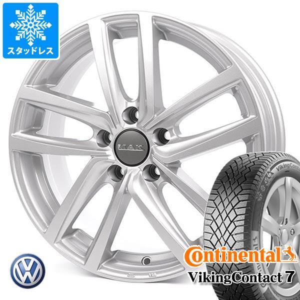 VW e-ゴルフ用 スタッドレス コンチネンタル バイキングコンタクト7 225/40R18 92T XL MAK ドレスデン タイヤホイール4本セット