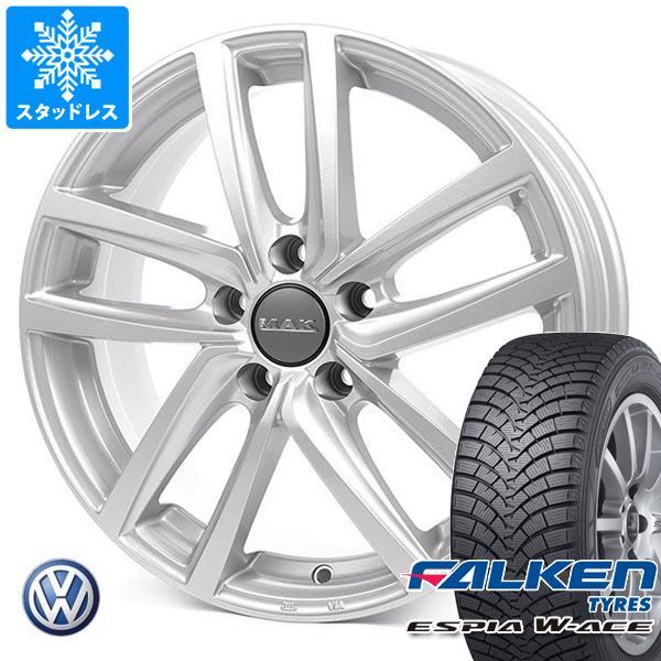VW T-クロス C1DKR用 スタッドレス ファルケン エスピア ダブルエース 215/45R18 89H MAK ドレスデン タイヤホイール4本セット