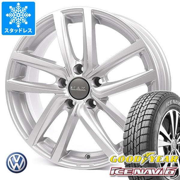 VW ザビートル用 スタッドレス グッドイヤー アイスナビ6 215/65R15 96Q MAK ドレスデン タイヤホイール4本セット