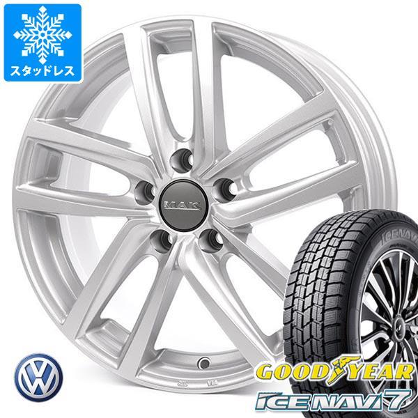 VW シャラン用 スタッドレス グッドイヤー アイスナビ7 215/60R16 95Q MAK ドレスデン タイヤホイール4本セット