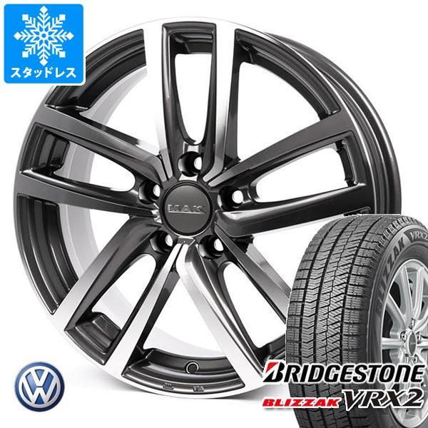 VW ポロ AWC系用 スタッドレス ブリヂストン ブリザック VRX2 185/65R15 88Q MAK ドレスデン タイヤホイール4本セット