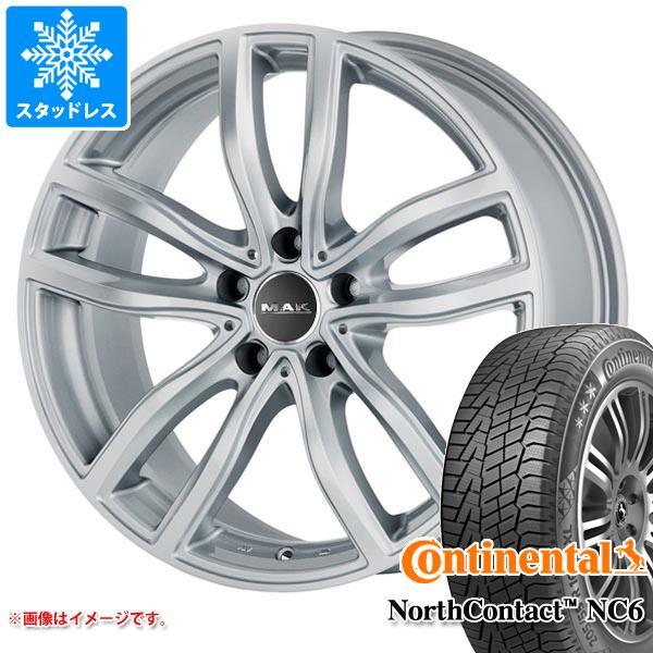 BMW G30/G31 5シリーズ用 スタッドレス コンチネンタル ノースコンタクト NC6 225/55R17 97T MAK ファー シルバー タイヤホイール4本セット