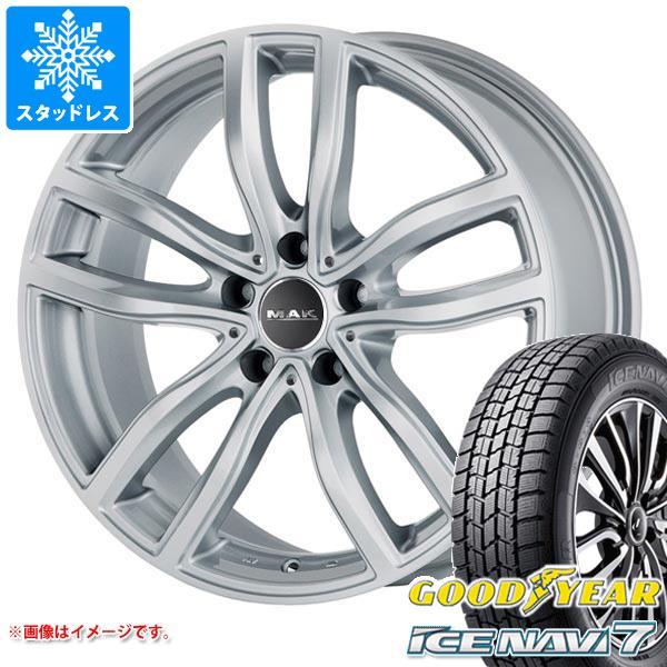 BMW G20 3シリーズ用 スタッドレス グッドイヤー アイスナビ7 205/60R16 92Q MAK ファー シルバー タイヤホイール4本セット