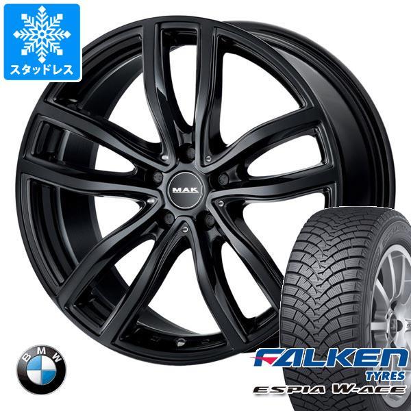 BMW G20 3シリーズ用 スタッドレス ファルケン エスピア ダブルエース 205/60R16 92H MAK ファー ブラック タイヤホイール4本セット