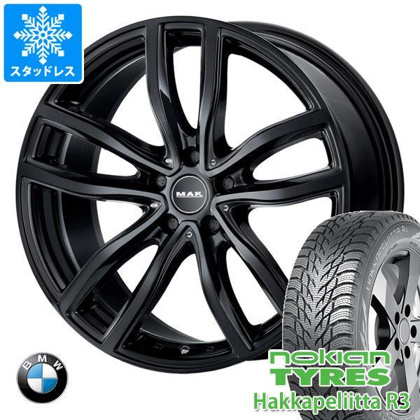 BMW G20 3シリーズ用 スタッドレス ノキアン ハッカペリッタ R3 205/60R16 96R XL MAK ファー ブラック タイヤホイール4本セット