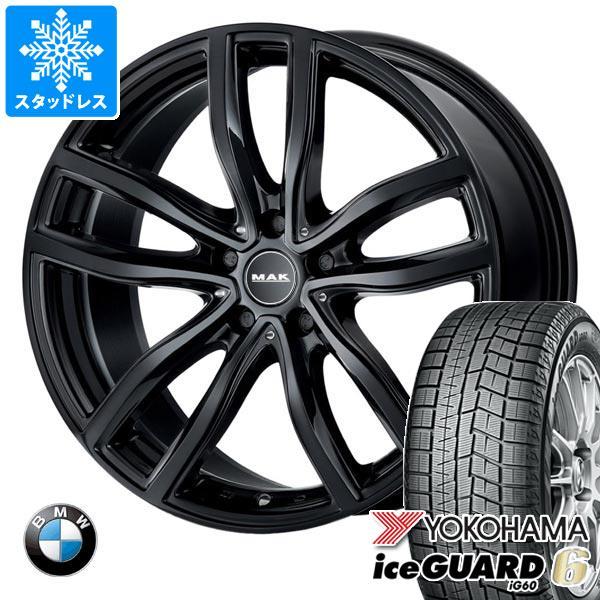 BMW G20 3シリーズ用 スタッドレス ヨコハマ アイスガードシックス iG60 205/60R16 96Q XL MAK ファー ブラック タイヤホイール4本セット