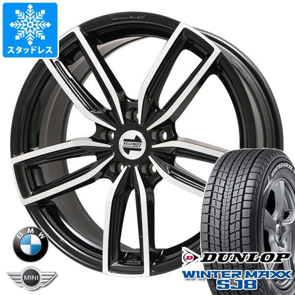 贅沢品 BMW G01 X3用 スタッドレス ダンロップ ウインターマックス SJ8 225/60R18 100Q ケレナーズ ジュニア GF5 BK/P タイヤホイール4本セット, オノエマチ 89082be7
