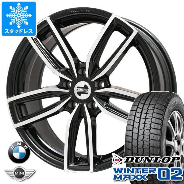 BMW G20 3シリーズ用 スタッドレス ダンロップ ウインターマックス02 WM02 225/45R18 91Q ケレナーズ ジュニア GF5 BK/P タイヤホイール4本セット