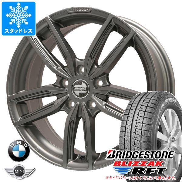 BMW G11/G12 7シリーズ用 スタッドレス ブリヂストン ブリザック RFT ランフラット 245/50R18 100Q ランフラット ケレナーズ ジュニア GF5 MT タイヤホイール4本セット