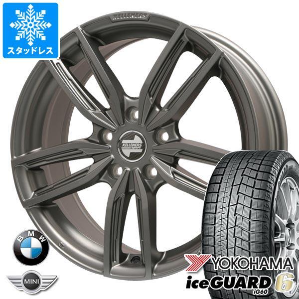 BMW G20 3シリーズ用 スタッドレス ヨコハマ アイスガードシックス iG60 225/45R18 95Q XL ケレナーズ ジュニア GF5 MT タイヤホイール4本セット